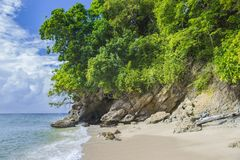Ön av Hispaniola, Dominikanska republiken Sikt från islaen arkivbild