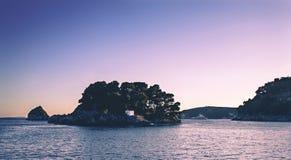 Ön av Panagia Parga Grekland Arkivbilder