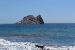Ön för `-Fraile ` i by för Ã-guilas i gemenskap av Murcia Arkivfoton