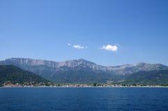 Ön från havet Arkivfoto
