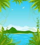 ön gömma i handflatan litet tropiskt Royaltyfria Foton