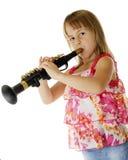 Önska ' är klarinettspelare Fotografering för Bildbyråer
