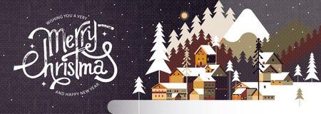 Önska dig mycket glad jul och lyckligt nytt år Vinterkalligrafi och bakgrund också vektor för coreldrawillustration vektor illustrationer