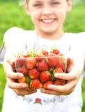 Önska jordgubbar? royaltyfri foto