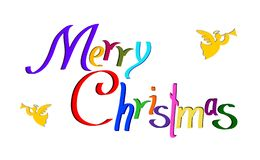 Önska och änglar för glad jul royaltyfri illustrationer