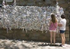 Önska väggen, hus av den jungfruliga Maryen Royaltyfria Foton