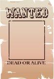 önskad affisch Vektor Illustrationer
