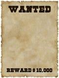 önskad affisch för clippingbana Arkivfoto
