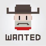 Önskad cowboy Outlaw Royaltyfri Foto