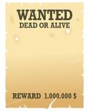 önskad vid liv död affisch Royaltyfria Foton