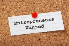 Önskade entreprenörer Arkivbilder