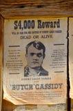 Önskade Robert Leroy Parker som är bekant som Butch Cassidy Arkivfoto