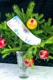 Önskaen av glad jul i tysk royaltyfria bilder