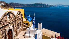 öoia santorini Grekland Royaltyfri Bild