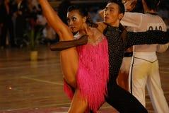 Öppen absorberad medborgare för Kina Nanchang internationell standarddans Arkivbild