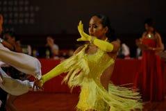 Öppen absorberad medborgare för Kina Nanchang internationell standarddans Arkivbilder
