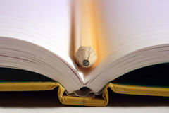öppen anteckningsbok Arkivbild