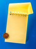 Öppen anteckningsbok för mellanrum med cent Royaltyfri Bild