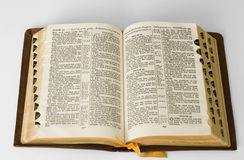 öppen bibel Royaltyfri Foto