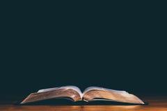 öppen bibel Royaltyfri Fotografi