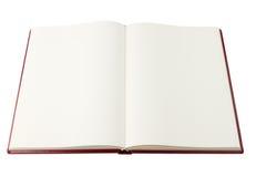 öppen blank bok Royaltyfri Fotografi