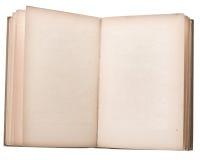 öppen blank bok Arkivfoto