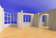 öppen blank interior Stock Illustrationer