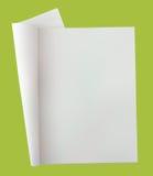 öppen blank tidning Arkivfoto