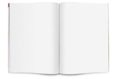 öppen blank tidskrift Arkivbild
