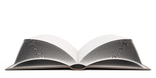 öppen bok 3d Arkivfoto