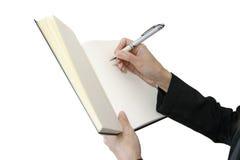Öppen bok för kopieringsutrymme Arkivfoto