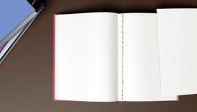 Öppen bok för mellanrum royaltyfri illustrationer