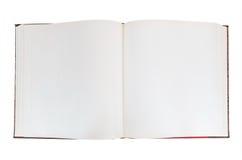 Öppen bok för mellanrum på vit bakgrund Royaltyfri Foto