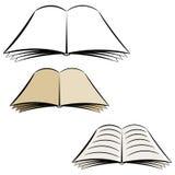 öppen bok för tecknad film Royaltyfri Fotografi