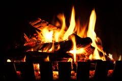 öppen brand Arkivbild