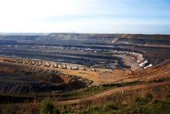 öppen brun coalmining Royaltyfri Bild