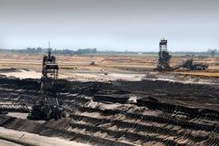 öppen brun coalmining Royaltyfri Fotografi