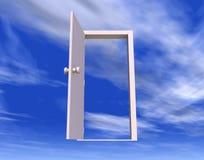 öppen dörr stock illustrationer