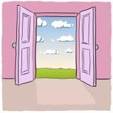 öppen dörr Arkivfoto