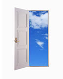 öppen dörr arkivbild
