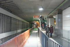 Öppen dag på den Bucharest gångtunnelen arkivfoton