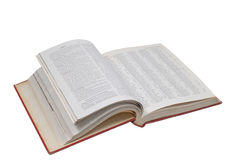 öppen encyklopedi Royaltyfri Fotografi