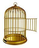 öppen fågelbur Arkivbild