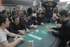 Öppen festival för Winmasters poker Arkivfoton