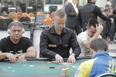 Öppen festival för Winmasters poker Arkivbilder