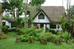 Öppen gräsplanträdgård med ett Vita Huset arkivbilder