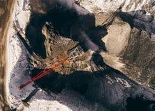 Öppen grop för coalmining Arkivfoto