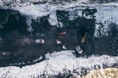 Öppen grop för coalmining Arkivbilder