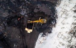 Öppen grop för coalmining Arkivfoton