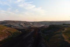 öppen grop för coalmining Royaltyfri Bild